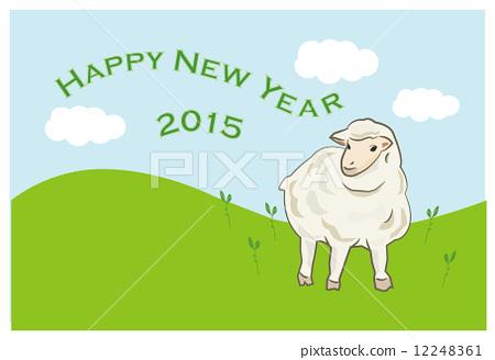 插图素材: 羊年 矢量 绵羊