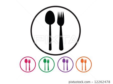 勺子 矢量图 stock 插图