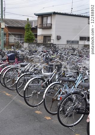 停车场 自行车停放 运送