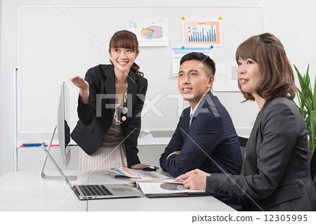 照片 cg 人体 人物 会议室商业场景  *pixta限定素材仅在pixta网站,或