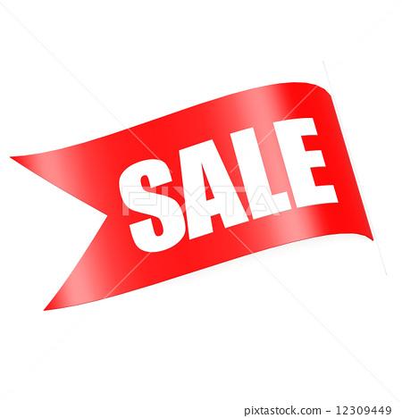 插图素材: red sale label