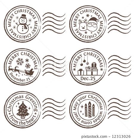 图库插图: 邮票 印章 密封