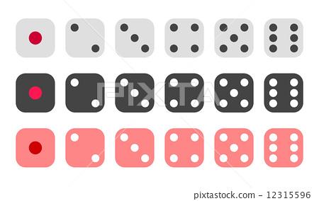 图库插图: 骰子 广场 正方形