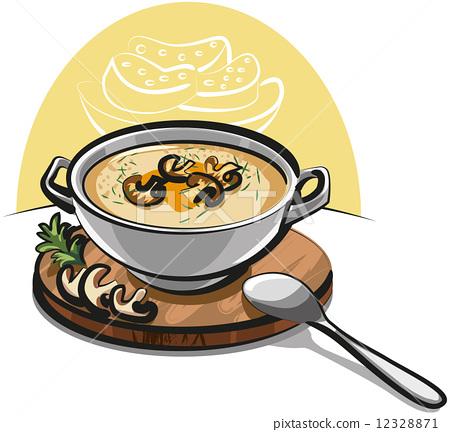插图 矢量图 mushroom soup
