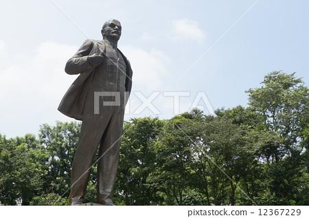 图库照片: 列宁 铜像 雕像