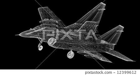 插图 飞机 fighter plane