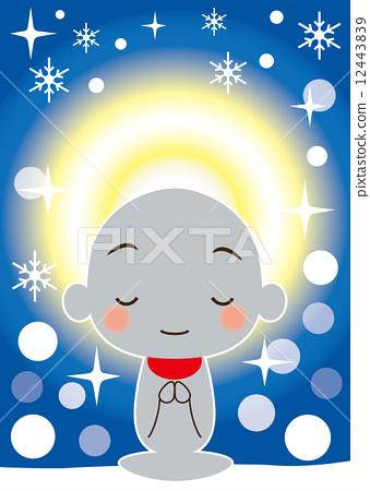 图库插图: 怜悯之光在雪中闪耀