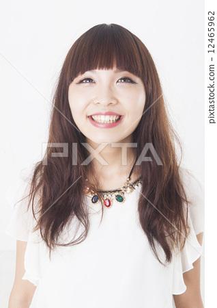 图库照片: 长头发 长发 女生