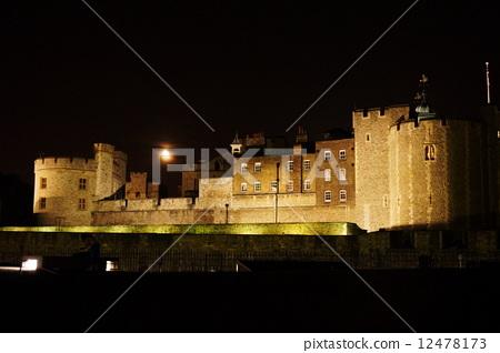 夜景 伦敦塔 城堡