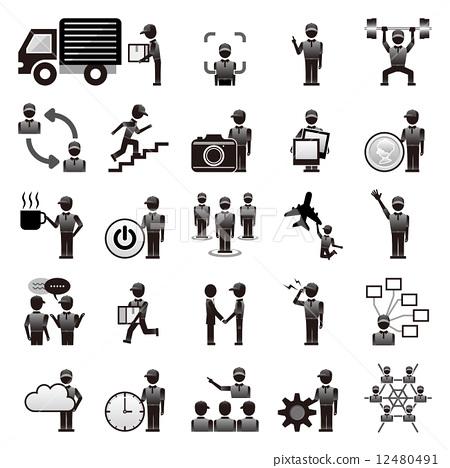 插图素材: 图标 icon 蓝领工人