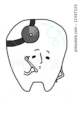 不同动物的牙齿简笔画图片