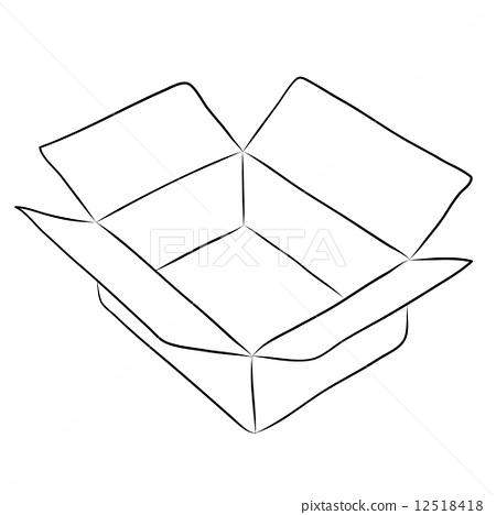 黑白色手绘盒子