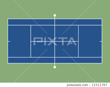 插图素材: 网球场