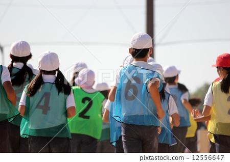 跑步 运行 小学生