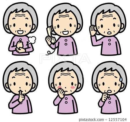 插图 表情 矢量图 老人 首页 插图 人物 男女 老年人 表情 矢量图
