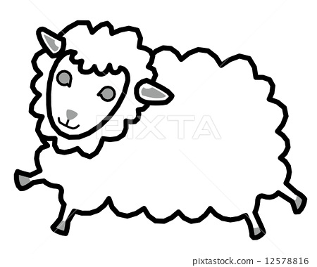 手绘羊图片大全可爱