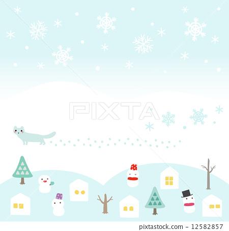 雪人 矢量图 冬天 首页 插图 休闲_爱好_游戏 玩雪 雪人 雪人 矢量图