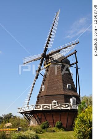 风力涡轮机 风车 木制