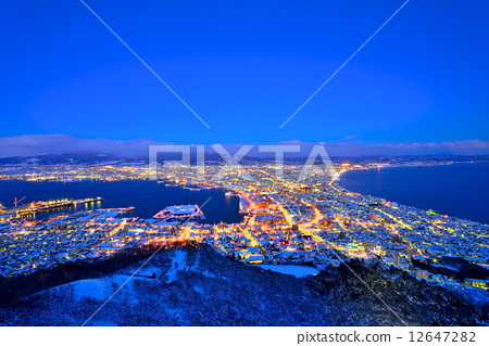 夜景 函馆 风景