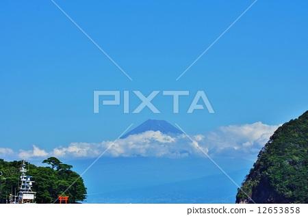 背景素材 蓝色富士 富士山