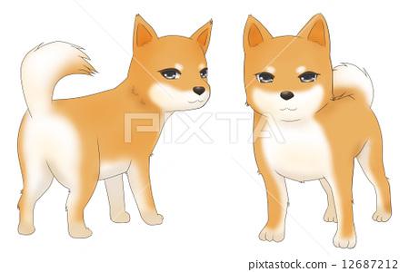 动漫手绘柴犬图片