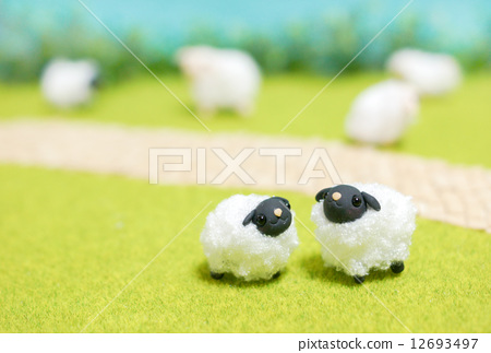 图库照片: 粘土工作 用粘土做东西 羊