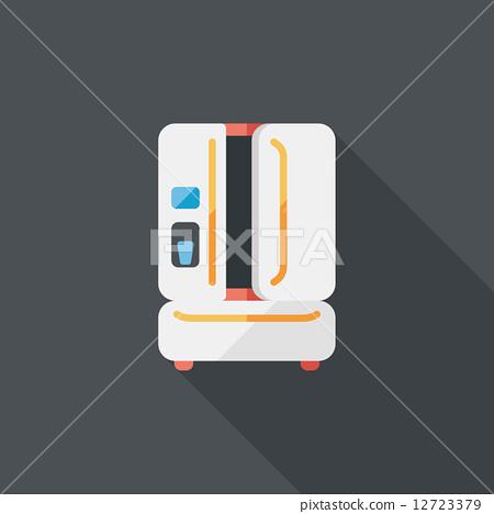 维冰箱背景矢量图_