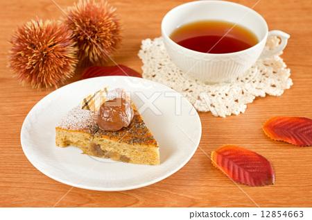 图库照片: 茶点 下午茶时间 秋天图片