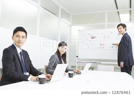 照片素材(图片): 会议室现场