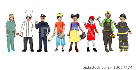一家三口卡通图片可爱卡通加油开学季海报 新冠病毒加油武汉口罩海报图片