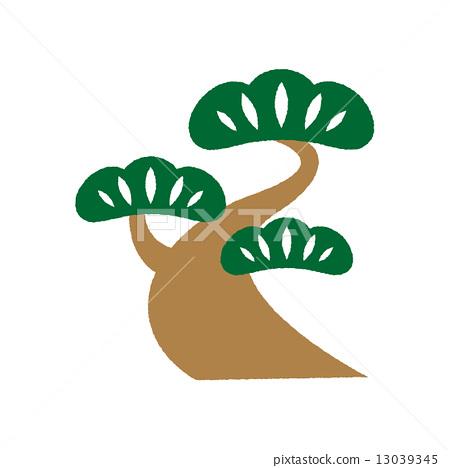 图库插图: 矢量 松树 树