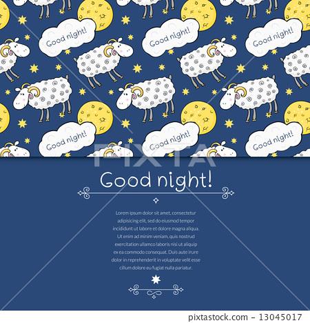 失眠症 可爱 stock 插图