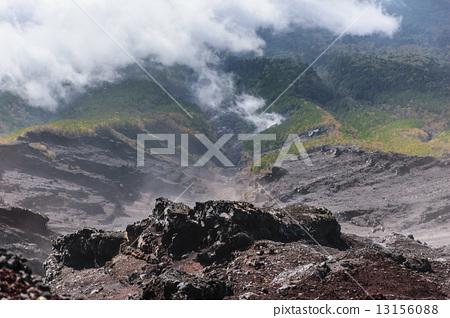 照片 日本风景 山梨 富士山 大泽坡地 富士山 山峰  *pixta限定素材仅