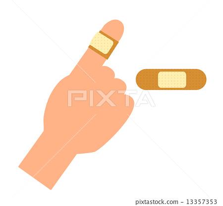 脸部_身体 身体_身体部分 手 邦迪创口贴 绷带 手  *pixta限定素材仅