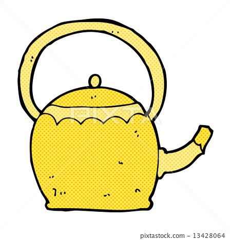 图库插图: comic cartoon tea pot