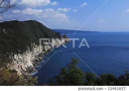 图库照片: 悬崖 四国岛 高知县