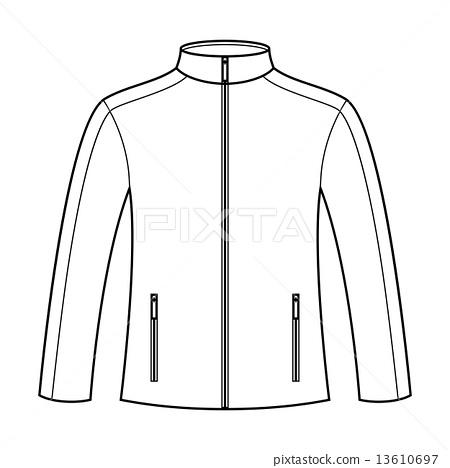 图库插图 jacket template