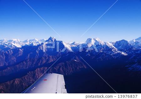 姿势 飞吻 喜马拉雅山 山峰 喜马拉雅  *pixta限定素材仅在pixta网站