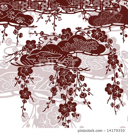 图库插图: 日式 矢量 编织纹