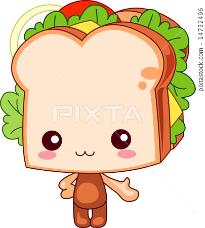 宝宝 首页 插图 人物 儿童 婴儿 三明治 婴儿 宝宝  *pixta限定素材仅