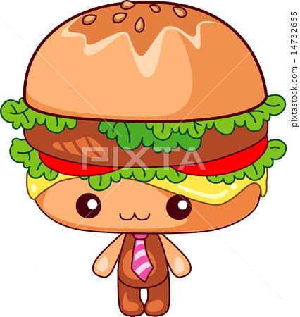 图库插图: 汉堡 矢量 人物
