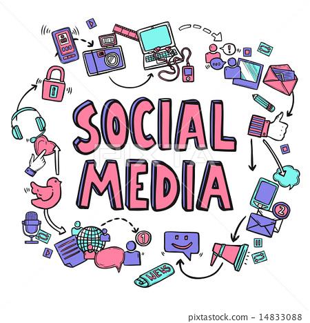 图库插图: social media design concept图片