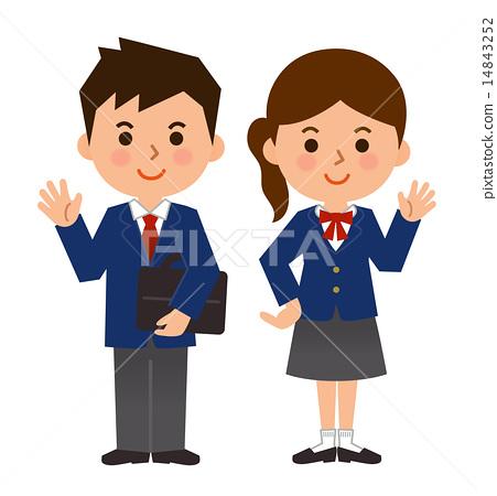 女孩 首页 插图 人物 男性 男孩 制服 校服 女孩  *pixta限定素材仅在