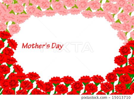 图库插图: 康乃馨 母亲节 花朵