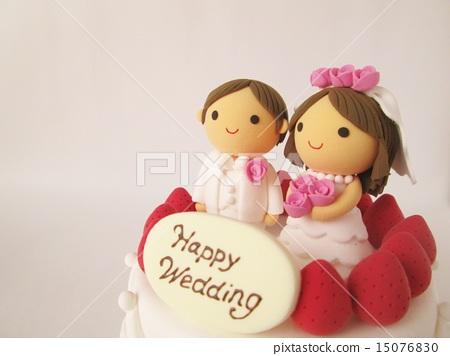 图库照片: 婚礼蛋糕 粘土 橡皮泥