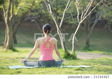 照片 姿势_表情_动作 构图 背影 瑜伽 瑜珈 背影  *pixta限定素材仅在