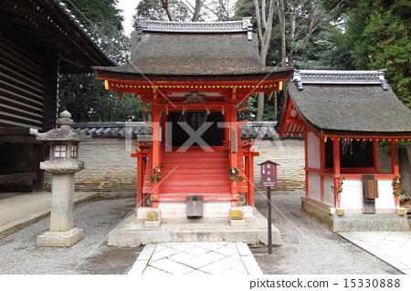 图库照片: 石清水八幡宫 神殿 八幡神社