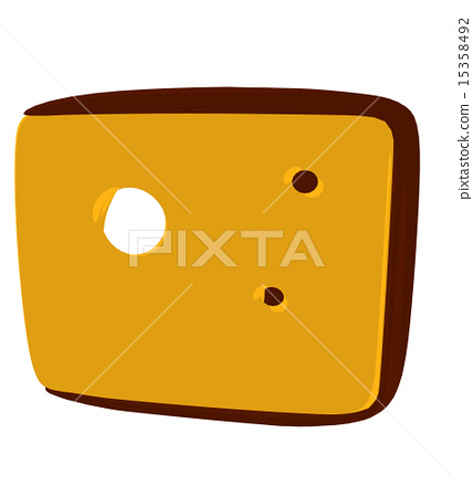 插图素材: cheese slices illustration silhouette