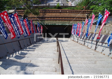 首页 照片 日本风景 广岛 尾道 尾道 柔道极 楼梯  *pixta限定素材仅