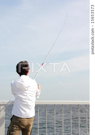照片 姿势_表情_动作 构图 背影 钓鱼 休闲 背影  *pixta限定素材仅在